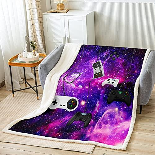 Manta de forro polar para videojuegos, para niños, niñas, controlador de videojuegos, sofá para dormitorio, manta moderna, para jugador, tamaño de bebé (76,8 x 100,9 cm)