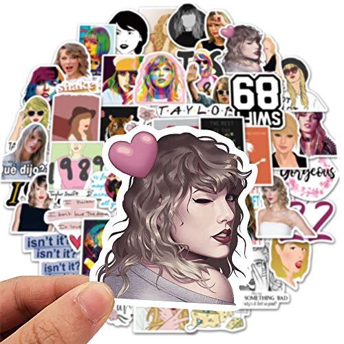 NANANA Cantante Taylor Alison Swift Pegatinas Vinilo Para Bricolaje Papelería Scrapbooking Guitarra Portátil Ps4 Skateboard Pegatinas 100 Unidades