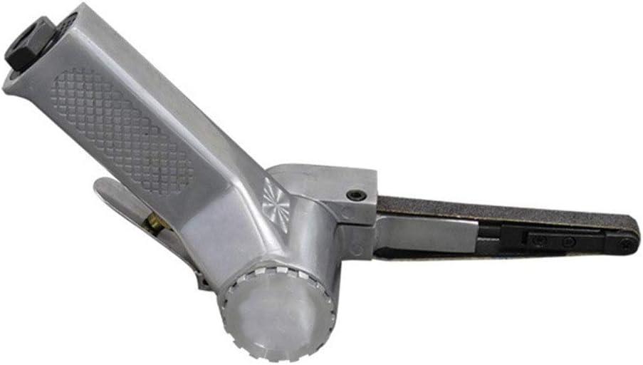 Herramientas neumáticas Neumática de 1 pulgada abrasivo cinta de la máquina, 10 * 330 mm Papel de lija de pulido de la máquina, el anillo de la correa impulsada por el viento del trefilado Sander