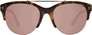FT0517 56Z Havana Adrenne Pilot Sunglasses Lens Category 2 Lens Mirror