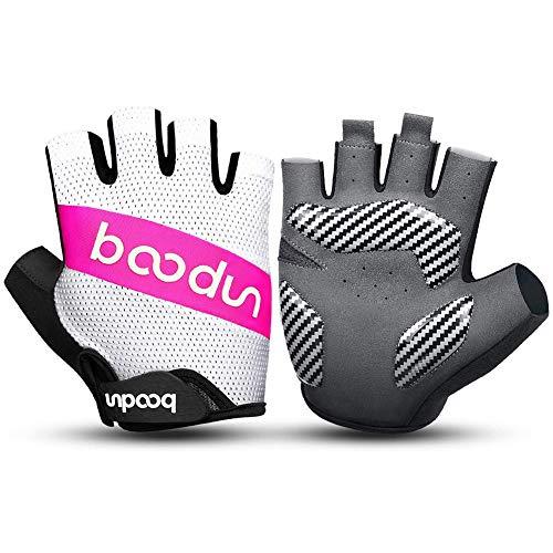 LHY Fahrradhandschuhe, Sport-Halbfinger Handschuhe, Anti-Rutsch-Stoßdämpfender Atmungsaktiv, Männer Frauen Sport Fahrradausrüstung,C,XL