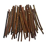 MAIYUAN 5 Inch Long 0.1-0.2 Inch in Diameter Wood Log Sticks for DIY Crafts Photo Props (100pcs)