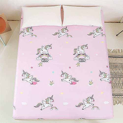 LLKK Home Plants - Funda de cama de poliéster con estampado floral para cama individual, tamaño king, cama individual, sábana bajera ajustable y protector de cama (color: BM018, tamaño: 180 x 200 cm)