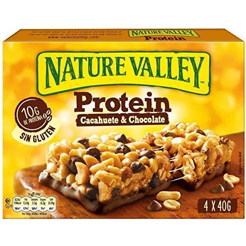 Nature Valley Protein Cacahuete y Chocolate Barritas de Proteína, 4 x 40g