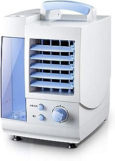 WUSTEGCCF USB Silencioso Portatil Climatizador Evaporativo,Ventilador De Aire Acondicionado FríO Individual, Aire Acondicionado Refrigerado por Agua con Mini Enfriadoras,White