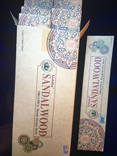 Goloka Incienso Sandalwood Organic Masala Sticks
