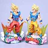 MNZBZ Anime Figures Anime Dragon Ball Z Son Goku Outburst of Anger Action Figure Noir Chocolat Fils Goku PVC Collection Modèle Jouets 24 CM