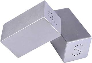 Pots à épices,Boîte Organisateur de Stockage d'épices, Ensemble de Bouteilles d'épices 304 Ensemble de Poudre de Pot d'ass...