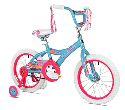Kent Girls Cupcake Bike, 16', Blue/Hot Pink