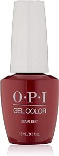OPI GelColor, Miami Beet, 0.5 Fl. Oz. gel nail polish
