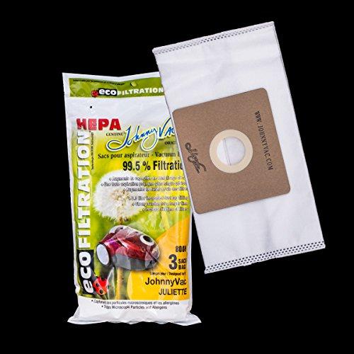 Johnny Vac Juliette Eco Filtration HEPA Vacuum Bags 3 Pack 800H