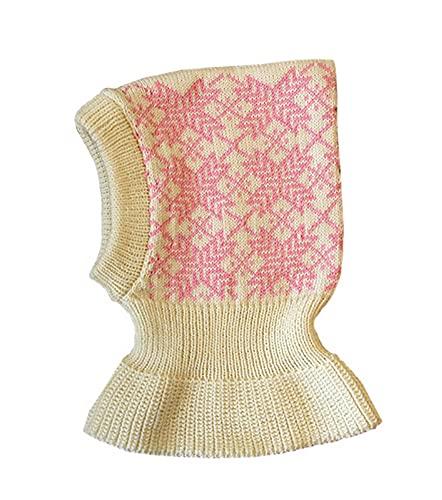 Pasamontañas 100% lana merino tejida invierno otoño sombrero bufanda bebé niños Blanco...