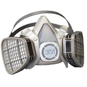 3M Half Facepiece Disposable Respirator Assembly 5101, Organic Vapor, Small