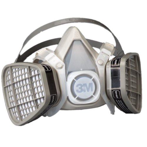 3M Disposable Respirator, Half Face Piece Assembly 5101, Organic Vapor Respiratory Protection, Small Size