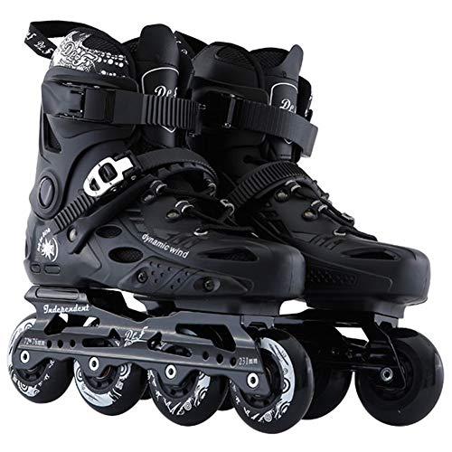 Inline Skates Adult Comfortable Roller Skates Professional Men and Women Skates,Black,43EU