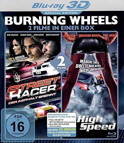 Burning Wheels 3D Blu-ray - Street Racer und High Speed - 2 Filme in einer Box