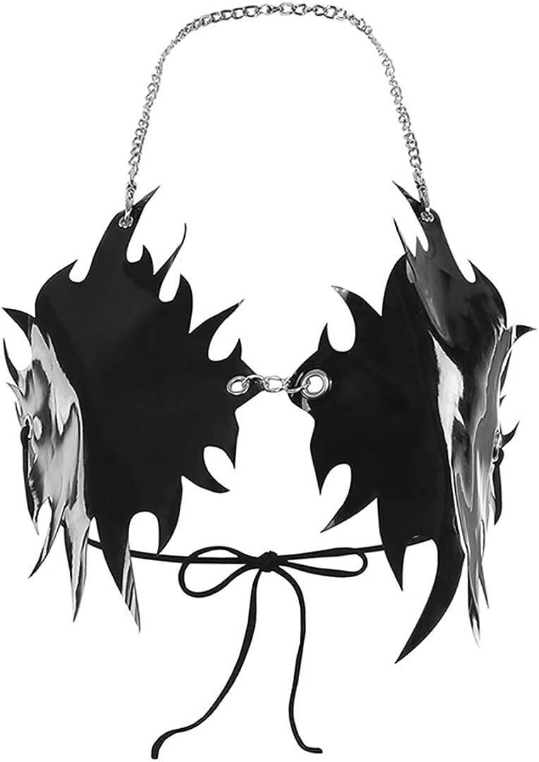 FlyCC Women's Gothic Import Flame Bralette Wrap Strappy Bra Around Crop Cheap bargain