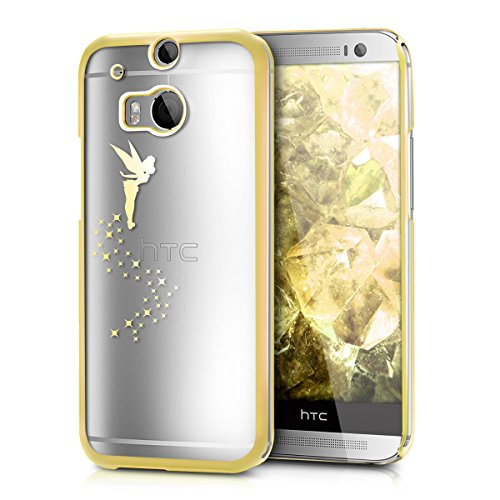kwmobile Crystal TPU Case for HTC One M8 / Dual/Eye - Soft Flexible Transparent Silicone Protective Cover - Fairy Gold/Transparent