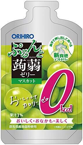 オリヒロプランデュ ぷるんと蒟蒻ゼリーパウチショット ゼロカロリーマスカット 100g ×12袋