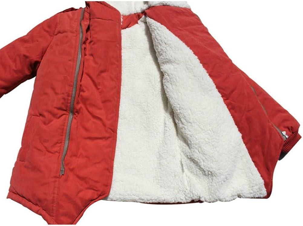 Mallimoda Boys Thick Cotton-Padded Parka Jacket Hooded Fleece Coat