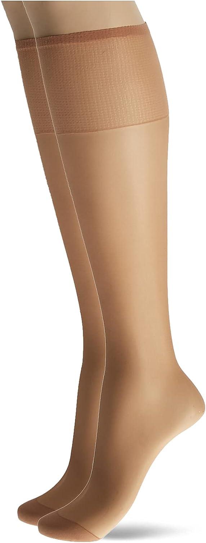 Hanes Silk Reflections Women's Knee High Reinforce Toe 2 Pack