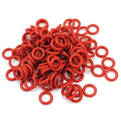 Pinzhi 120 Stück Silikonring O-Ring Dichtung Dunkelrot für Cherry MX Ersatz Teile