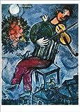 3er-Packung: Kunstkarte Marc Chagall'Der blaue Geiger'