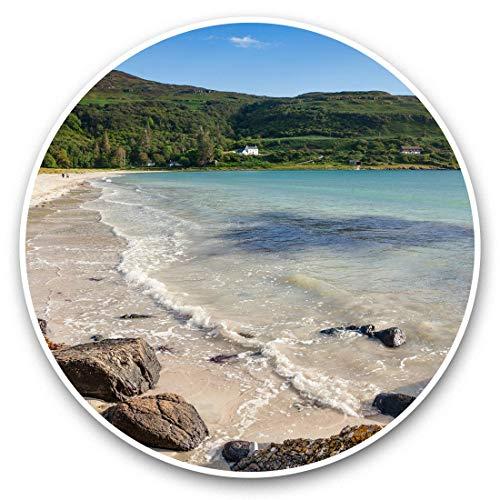 Impresionantes pegatinas de vinilo (juego de 2) 20 cm – Calgary Bay Isle of Mull Scotland Fun Decals para portátiles, tabletas, equipaje, reserva de chatarras, frigoríficos, regalo fresco #44506