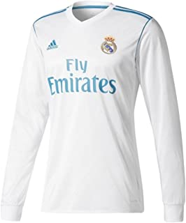 adidas Men's Soccer Real Madrid Home Jersey Long Sleeve 2017-18