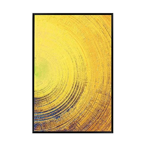 Schöne Ring Abstrakte Gemälde Haus Wanddekoration Malerei mit Rahmen Druckt Leinwand Kunst Malerei Einfach Bereit zu Hängen,B,40x60cm