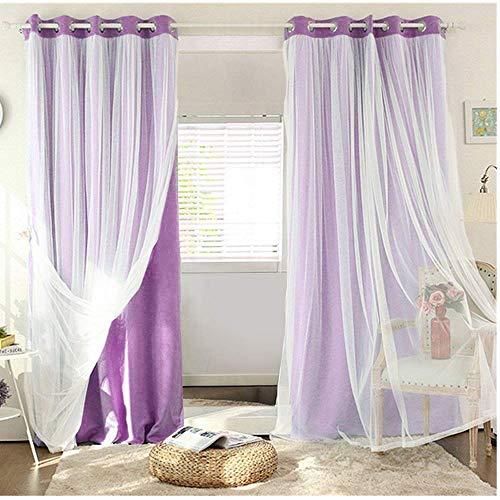 cortinas salon modernas dobles