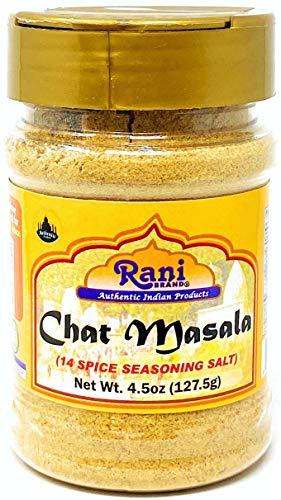 Rani Chat Masala (Mezcla De 14 Especias) Condimento Indio Picante 4.5 Oz (127.5 G) ~ ¡todo Natural, Sin Glutamato Monosódico! | Vegano | Sin Colores | Ingredientes Sin Gluten | No Ogm | Origen Indio