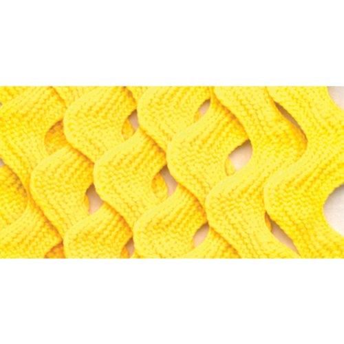Wrights 117-401-086 Polyester Rick Rack Trim, Canary, Medium, 2.5-Yard
