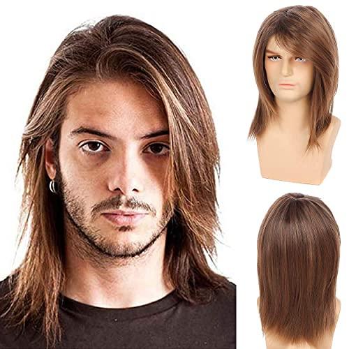 Pelucas de cabello corta con capas cortas con flequillo con flequillo Pelucas de halloween resistente al calor del cosplay sintético con pelucas de halloween con tapa de peluca BJY969