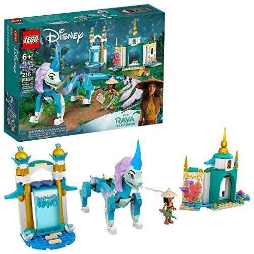 LEGO Disney Raya and Sisu Dragon 43184; A Unique Toy and Building Kit; Best for Kids Who Like Stories with Dragons and Adventuring with Strong Disney Characters, New 2021 (216 Pieces)