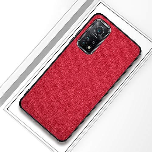 WANGZHEXIA Funda protectora para Xiaomi Redmi K30S a prueba de golpes de tela textura PC + TPU Funda protectora