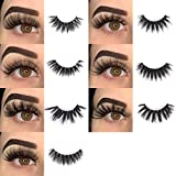BEPHOLAN Fake Eyelashes,False Eyelashes,7 Styles Faux Mink Lashes For Makeup,100% Handmade Soft Thick Lashes,Reusable Volume Fluffy Natural 5D False Eyelashes |Mixed