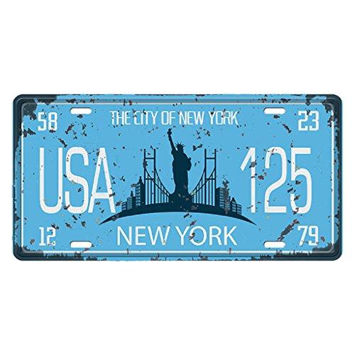 USA Kennzeichen Metall Blechschilder Schild Plakette für Cafe Bar Tür - New York 2