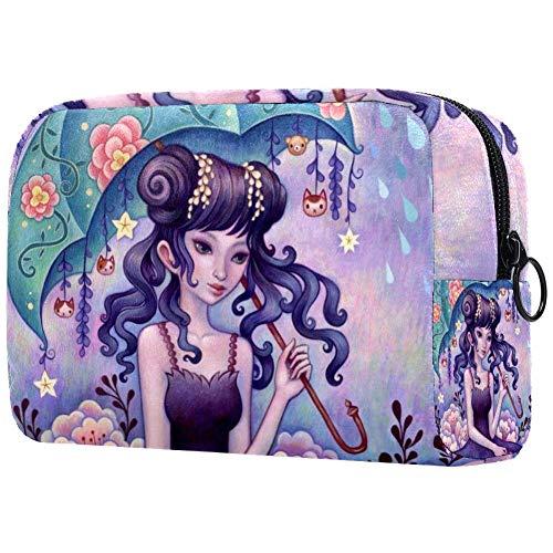 Caja de maquillaje con purpurina de cola de sirena para maquillaje, neceser de cosméticos, neceser de belleza para mujeres, bolsa de cosméticos de viaje, bolsa de cosméticos, bolsa de aseo para niñas Multi07 18.5x7.5x13cm/7.3x3x5.1in