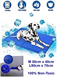 Dog Cooling Mat Pet Cooling Mat Cooling Mat for Dogs & Cats Durable Pet Mat Non-Toxic Gel Self Cooling Pad Large Medium