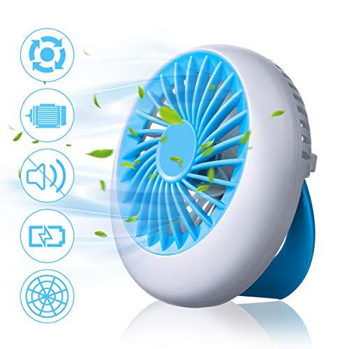NASUM Mini Ventilador, USB Ventilador Portatil Batería Recargable con 3 Modos de Velocidad, Ventilador de Mano para Oficinas Casas Coches al Aire Libre(Azul)