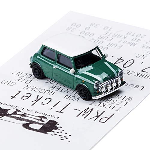 corpus delicti :: Magnetischer Parkscheinhalter für das Armaturenbrett – Modellauto mit Magnet und Selbstklebender Haftscheibe – Kultauto Mini Cooper British Racing Green (20.10-11)