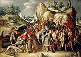 AMANUO Pieter Brueghel el Joven Impresiones Pinturas Famosas sobre Lienzo Vintage 90X65 cm Cuadros Enrollada - San Pablo Lleva A Damasco Después Su Conversión