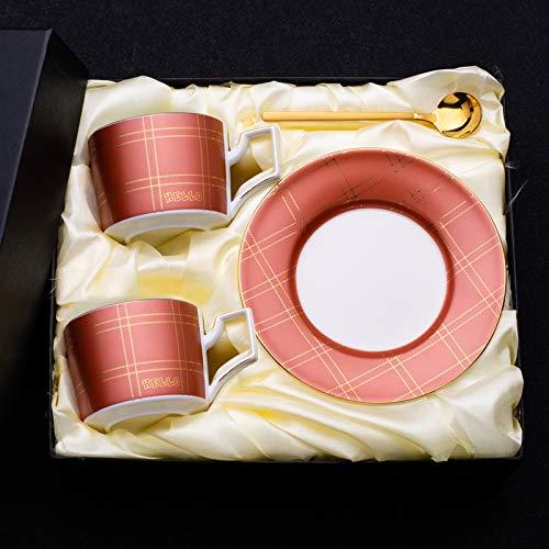 Kreative High-End-Kaffeetasse und Untertasse kleine Luxus-Keramik-Rührbecher kleine zarte Nachmittagstee-Mark-Tasse