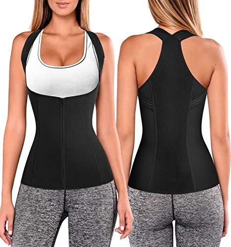 Women Back Braces Posture Corrector Waist Trainer Vest Tummy Control Body Shapers for Spinal Neck Shoulder and Upper Back Support (M, Black)