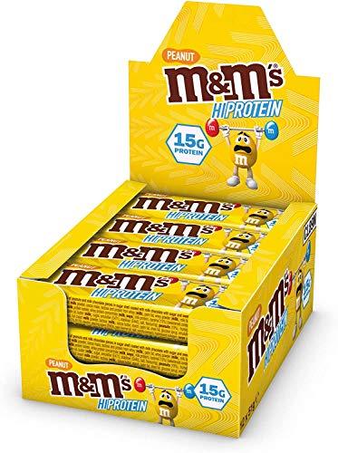 Mars 12 barrette proteiche m&m's high protein bar da 51 grammi, gusto burro d'arachidi Peanut butter, con 15 grammi di proteine