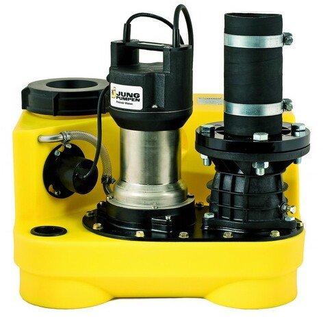 Jung Compli Hebeanlage mit 1.370 Watt Nennleistung zur effektiven Förderung von Schmutzwasser aus Bad, WC, Waschmaschine uvm.