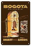 JuYiCk Cartel de viaje vintage de Bogotá Colombia Plaza De Toros, cartel de estaño de metal, 20 x 30 cm
