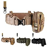 Tactical Battle Belt Set War Belt Condor Belt Military Wasit Belt with Mesh and Lining Thickening EVA Tactical MOLLE Belt for Shooting War Game Paintball Hunting Sports Outdoor (CP)