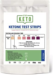 Stay Keto Strips - 50 Tiras medidoras de Cetonas - Comprueba y monitorea tu estado de cetosis.